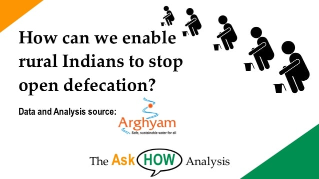 How can we reduce Open Defecation in rural India?